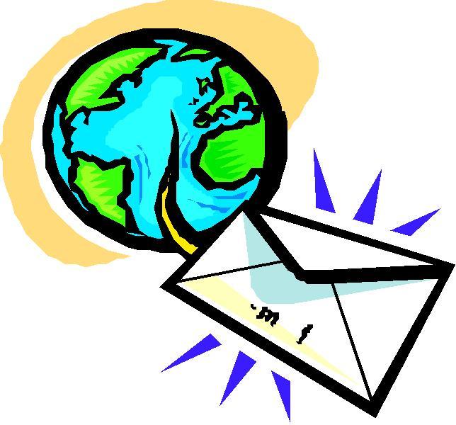 Art: World globe and letter